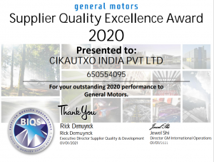 GM India RECOGNITION FOR CKIN