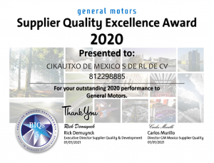 GM Mexico RECOGNITION FOR CKMX